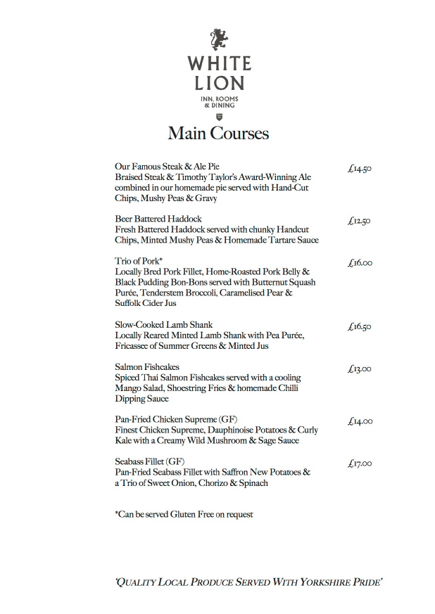 click here to download our Autumn menu